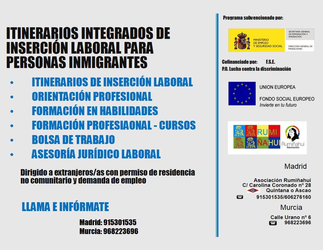 Itinerarios integrados de inserci n laboral para personas - Ofertas de empleo en murcia ...